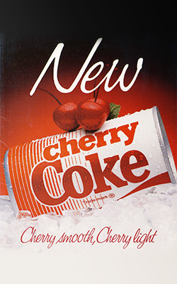 Image result for first cherry coke can