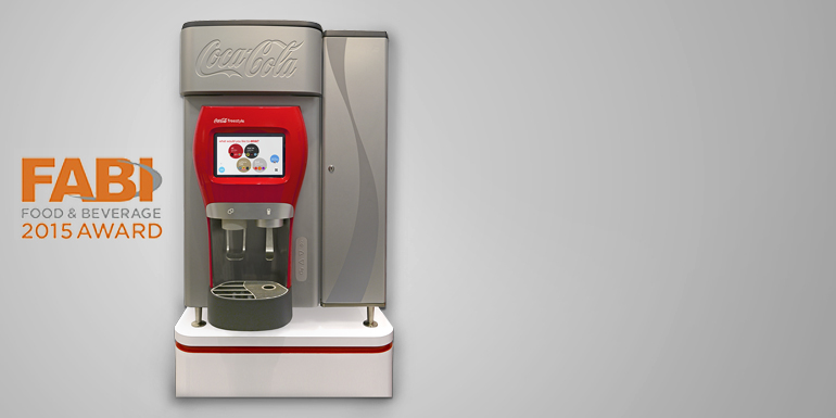 the countertop Coca-Cola Freestyle machine wins a FABI Award