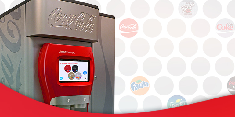 Engage customers with the Coca-Cola Freestyle dispenser