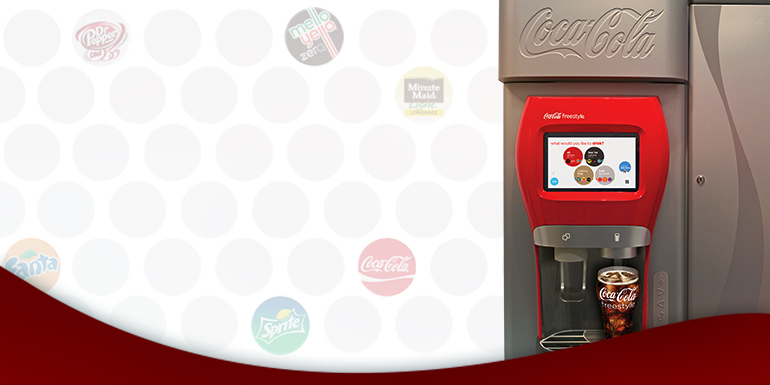 Help personalize guest experiences with the Coca-Cola Freestyle dispenser